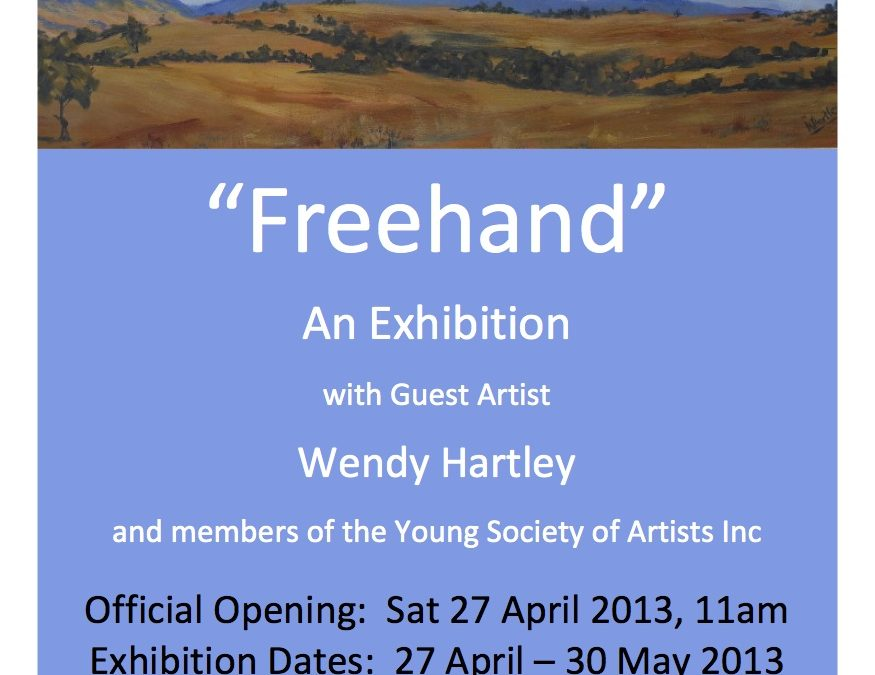 "Invitation to ""Freehand"" Exhibition at Burrangong Gallery"