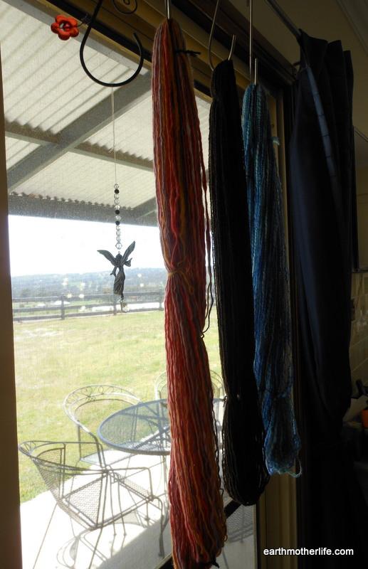 Yarns drying